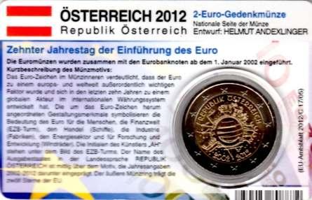 Autriche 2eurocoincard